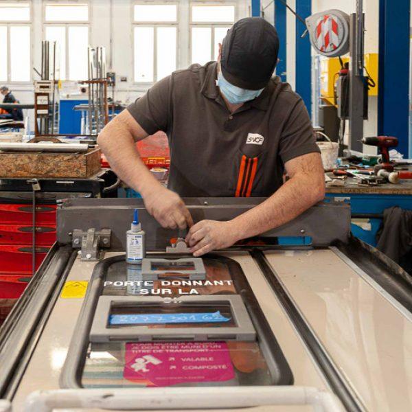 Rénovation portes voiture train de nuit TICP Périgueux